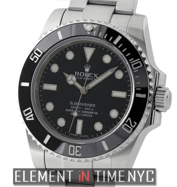 No-Date Ceramic Stainless Steel Black Dial