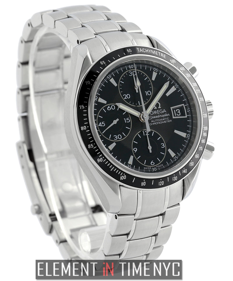 Date Chronograph Stainless Steel Black Dial 2008