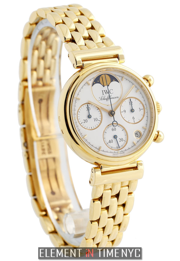 Da Vinci Ladies Moonphase Chronograph 18k Yellow Gold