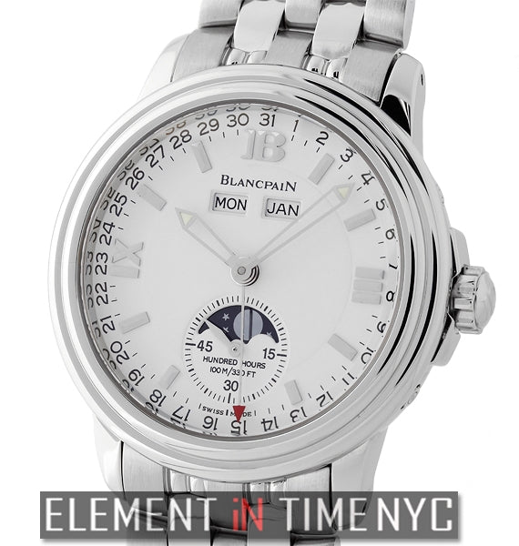Villeret Moonphase Stainless Steel 38mm White Dial