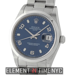 Stainless Steel Blue Dial Y Serial 34mm