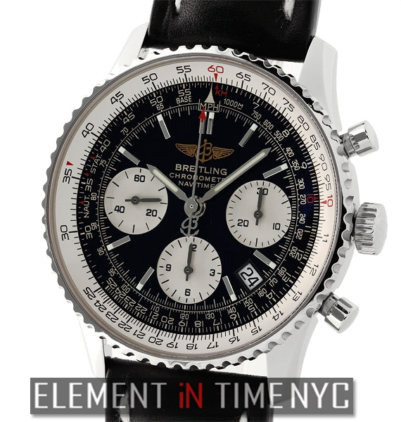 Stainless Steel Chronograph Black Dial 42mm