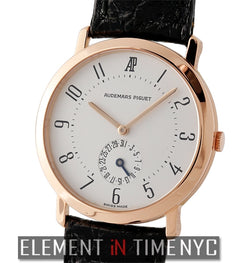 18k Rose Gold Silver Dial 32mm