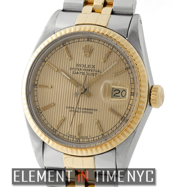 Steel & Yellow Gold Tuxedo Champagne Dial R Serial 1986
