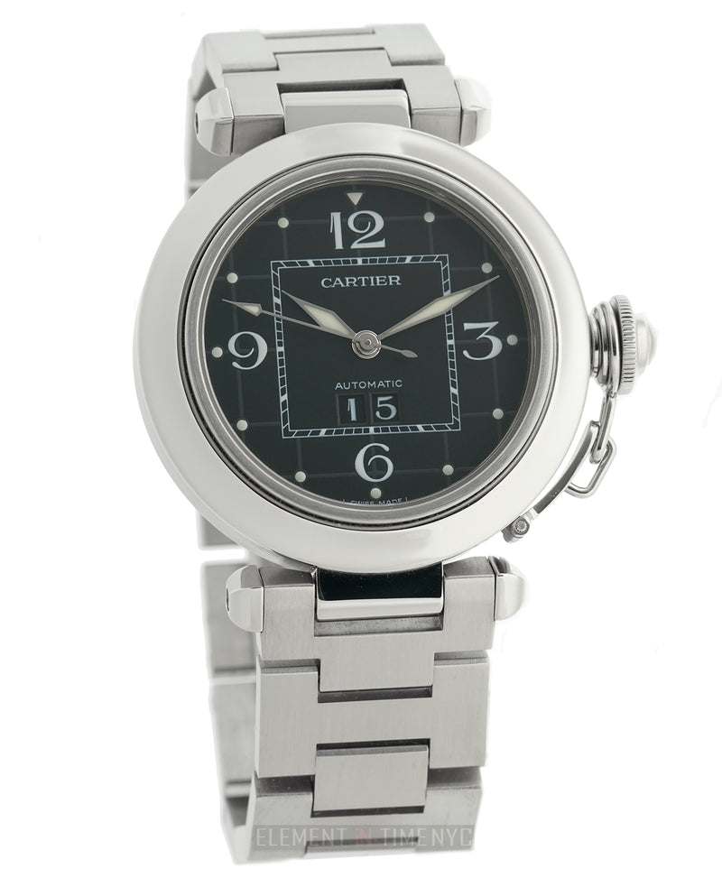 Pasha C Stainless Steel 35mm Black Dial Automatic