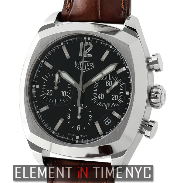 Re-Edition Steel Chronograph Black Dial Caliber 17