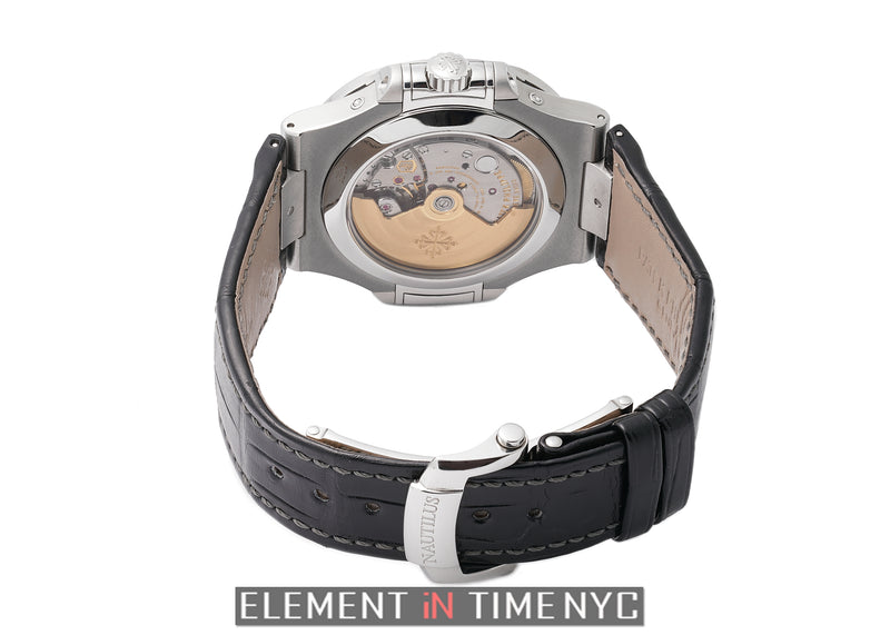 Annual Calendar Moon Phase Steel 41mm Black Dial