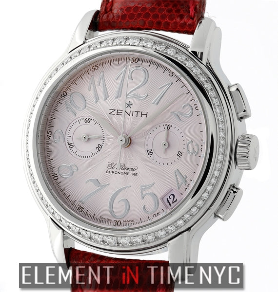 Star El Primero Diamonds Ladies Steel Pink Dial 37mm