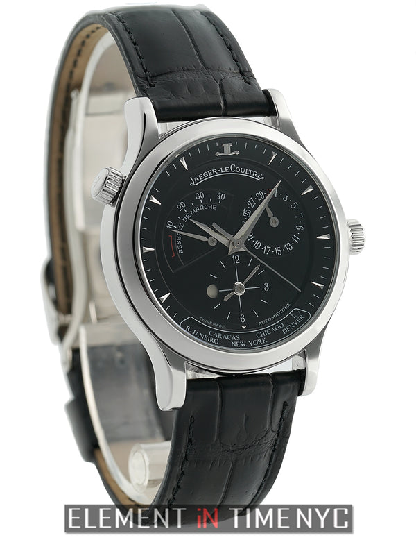 Geographic Stainless Steel 38mm Black Dial