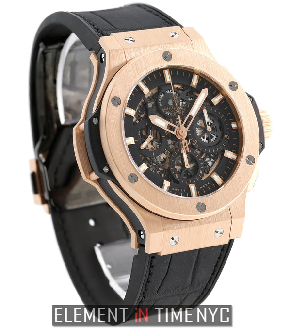 Aero Bang 18k Rose Gold Chronograph 44mm