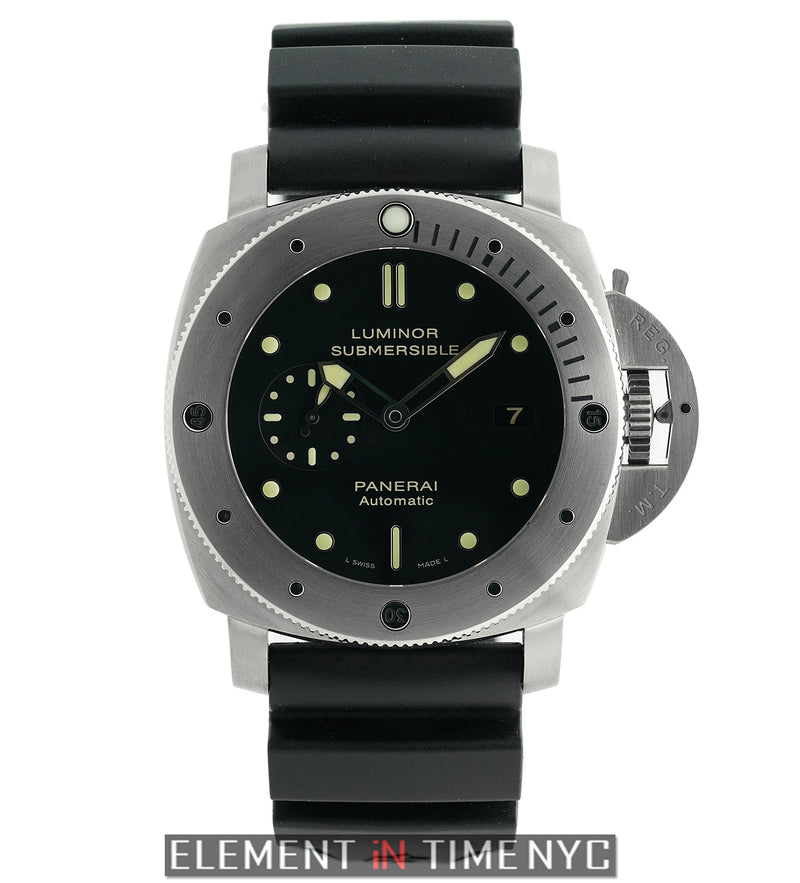 Luminor Submersible 1950 47mm Titanium Black Dial