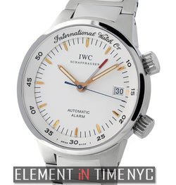 Alarm Stainless Steel White Dial 40mm