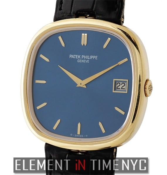 Ellipse 18k Yellow Gold Blue Dial Automatic