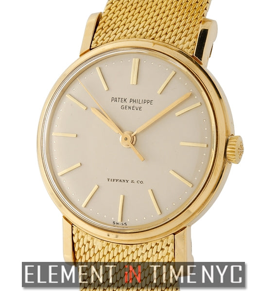 18k Yellow Gold 34mm Tiffany & Co. Dial 1960's