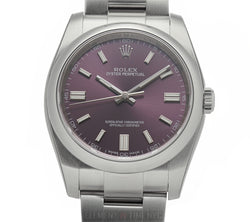36mm Stainless Steel No-Date Red Grape Dial