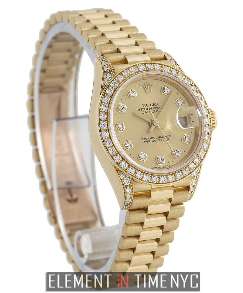 Crown Collection Ladies 18k Yellow Gold President 1997