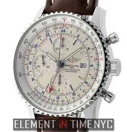 World Stainless Steel 46mm Silver Dial