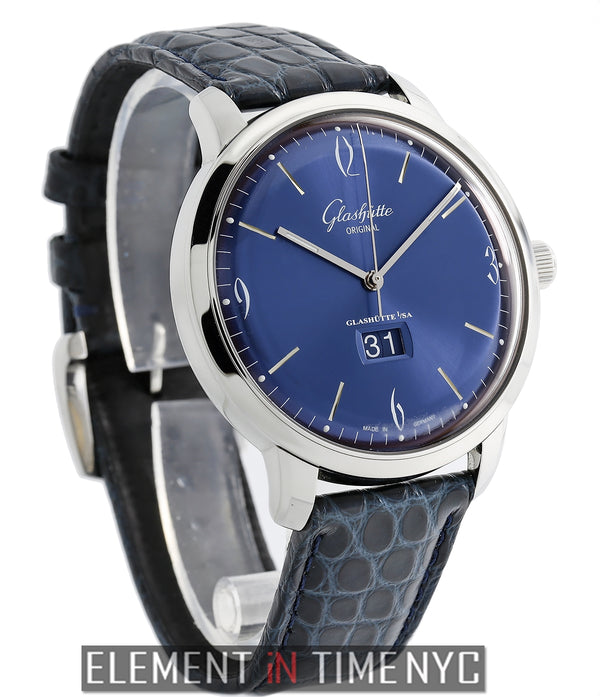 Senator Sixties Panorama Date 42mm Steel Blue Dial 2014