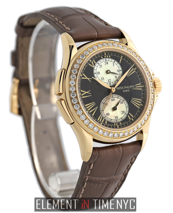 Travel Time 18k Rose Gold Diamond Bezel 2010