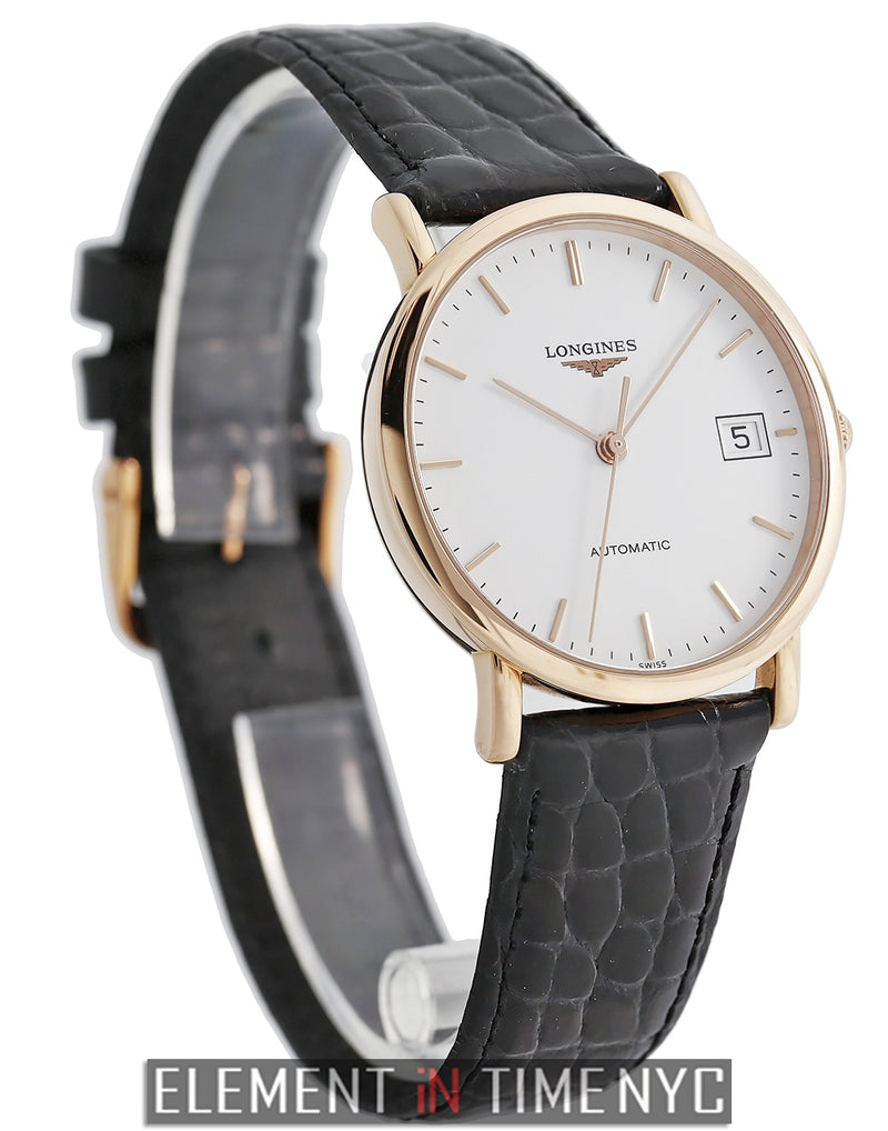 Presence 18k Rose Gold White Index Dial 35mm 2013