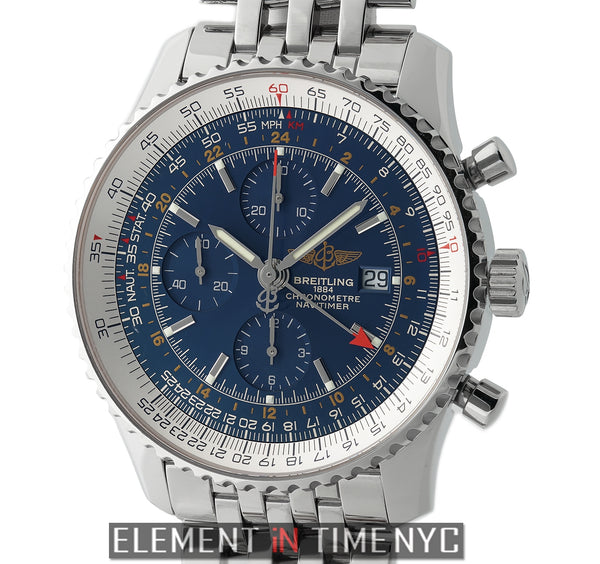 Navitimer World 46mm Stainless Steel Blue Dial