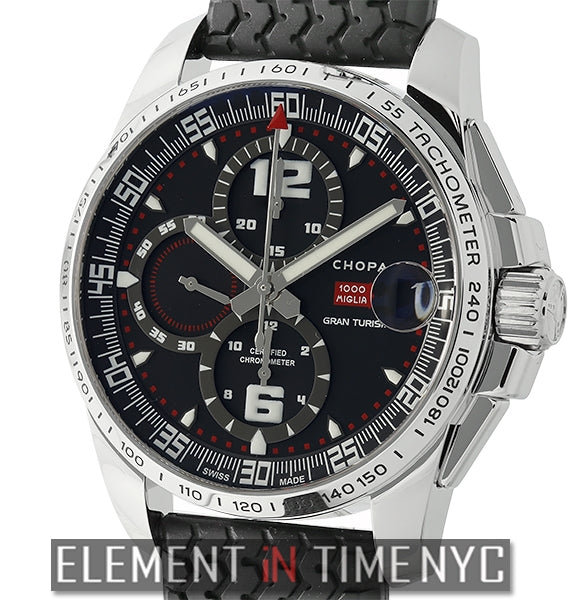 Gran Turismo XL Stainless Steel Black Dial 44mm