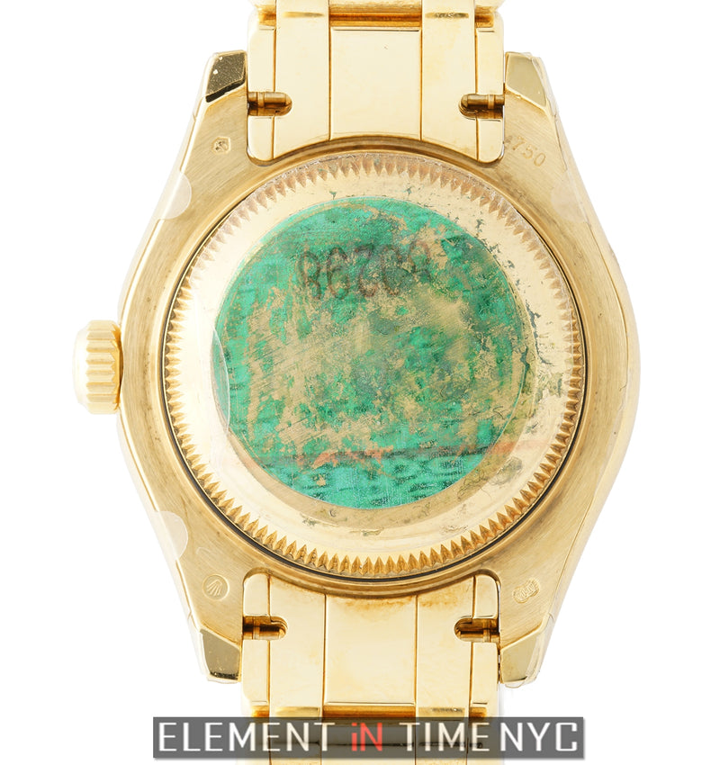 Lady Pearlmaster 18k Yellow Gold Diamond Bezel Circa 2006
