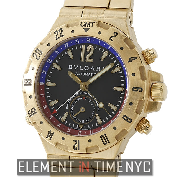 Professional GMT 18k Yellow Gold 40mm Black Dial