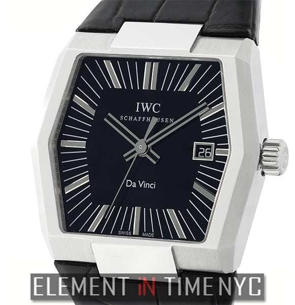 Vintage Da Vinci Stainless Steel 41mm Black Dial