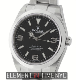 Stainless Steel Black Dial 39mm