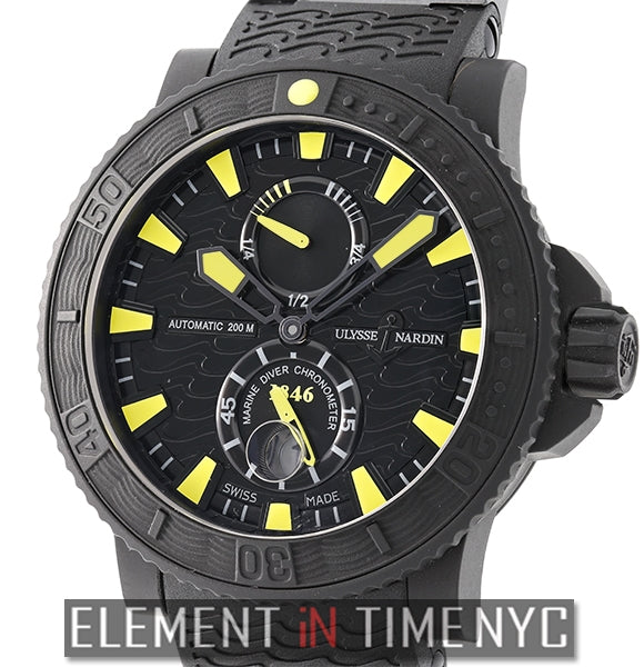 Black Sea Rubber-Coated Steel Case Yellow Accents