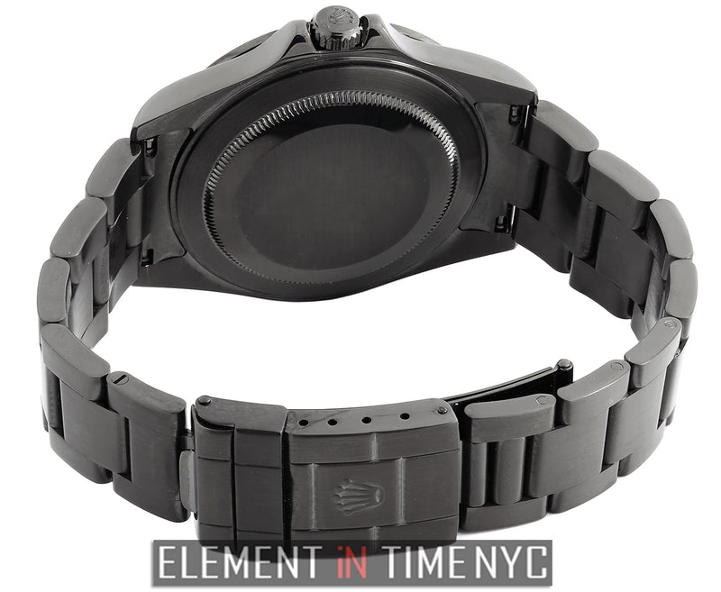 40mm Stainless Steel With Custom DLC Coating Black Dial