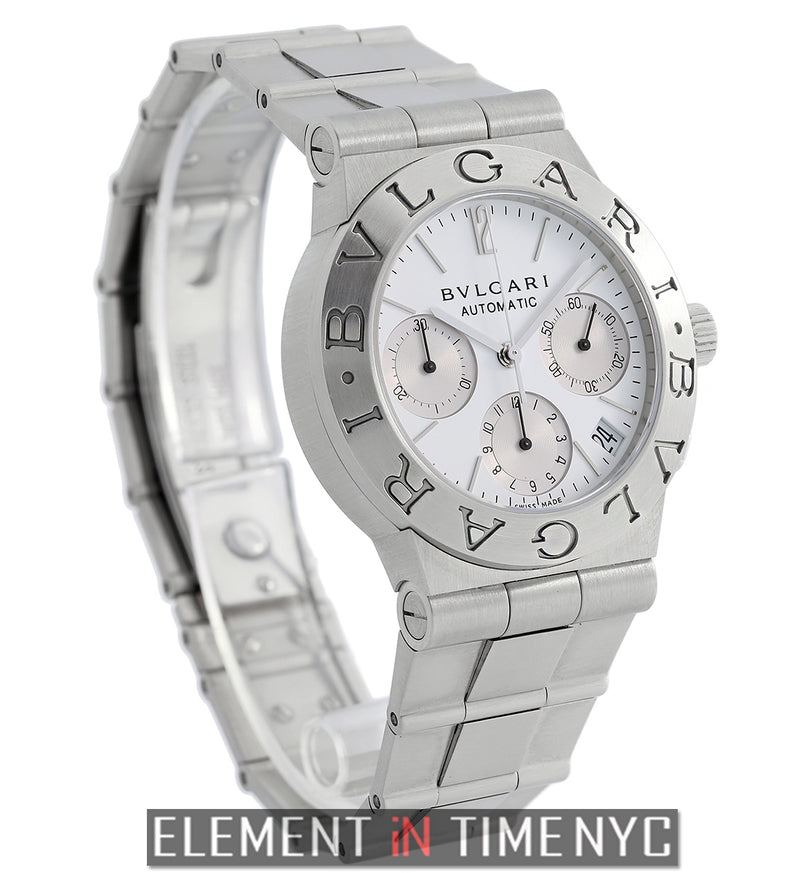 Chronograph Stainless Steel White Dial 36mm