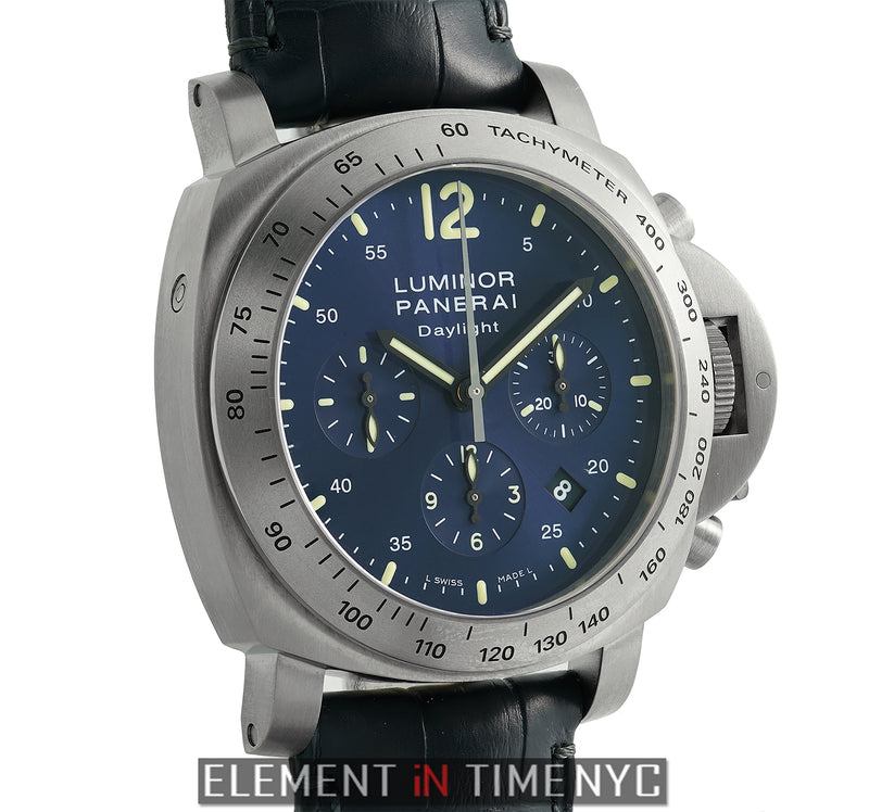 Daylight Chronograph Titanium Blue Dial 44mm