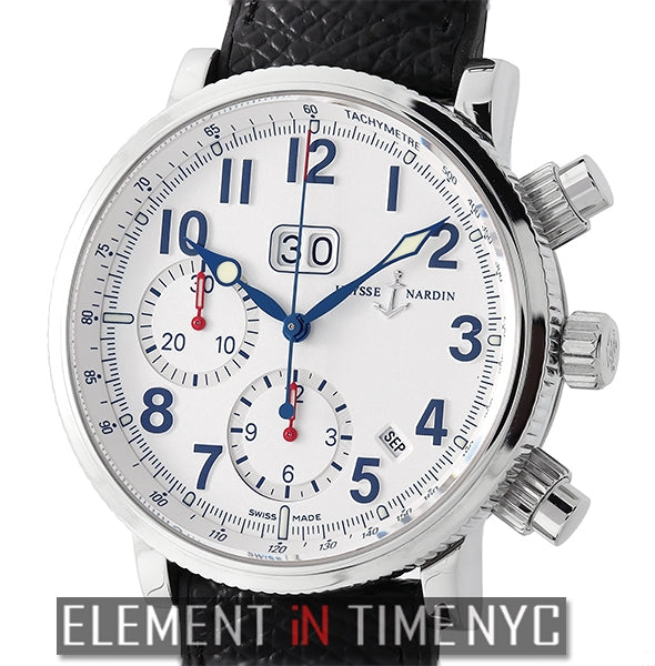 Annual Chronograph White Dial Stainless Steel 40mm 2002