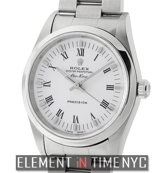 Precision 34mm Steel Smooth Bezel White Roman Dial Circa 2001