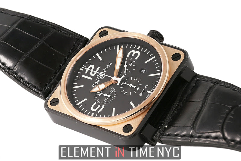 Chronograph 46mm 18k Rose Gold And Carbon