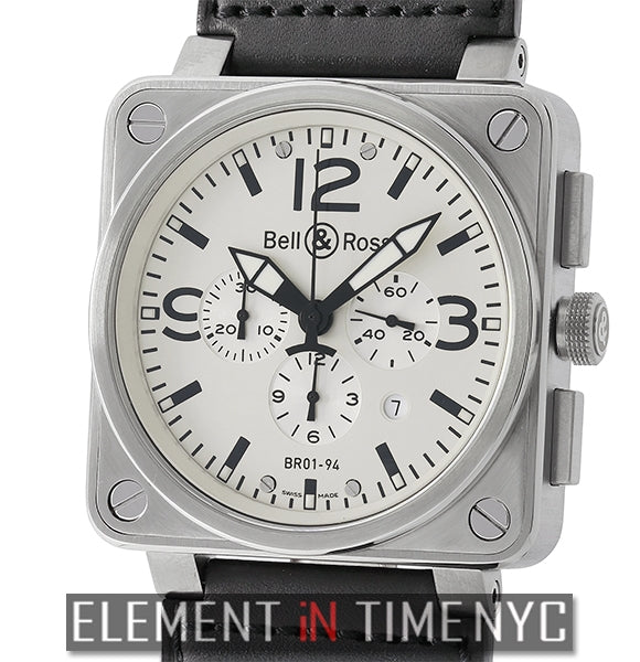 Chronograph Stainless Steel Silver Dial 46mm