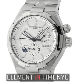 Dual Time Stainless Steel 43mm Silver Dial 2014