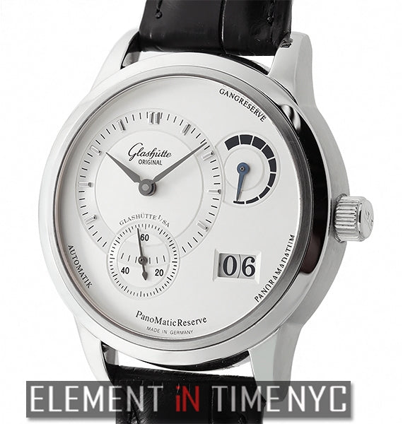 PanoMatic Reserve Stainless Steel 39mm Silver Dial