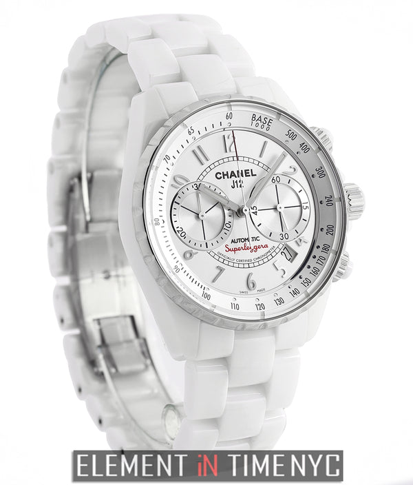 White Ceramic 41mm Superleggera Chronograph