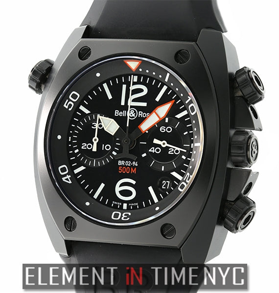 Carbon Chronograph Steel & PVD 44mm Black Dial