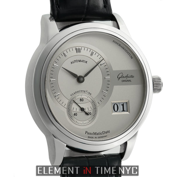 Panomatic Date Stainless Steel 39mm Silver Dial