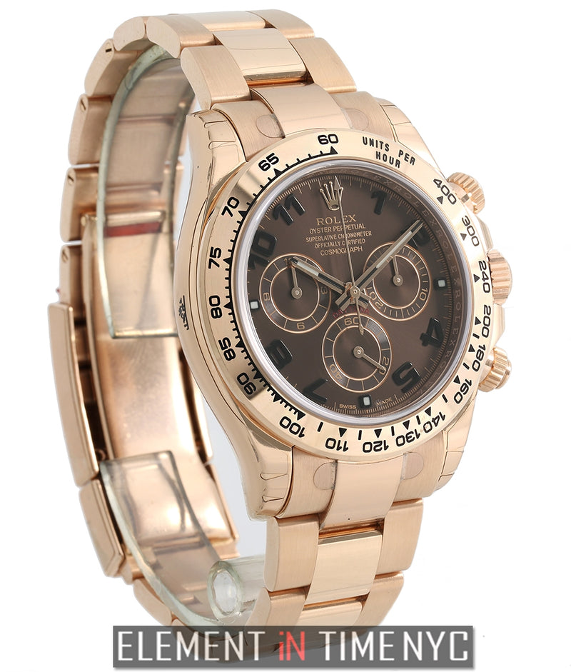 18k Rose Gold Chocolate Dial