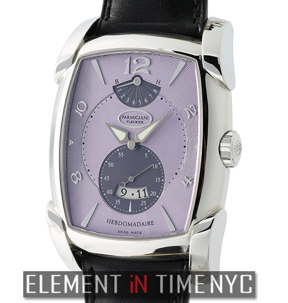 Kalpa XL Hebdomaire 8-Day Stainless Steel 37mm Lilac Dial