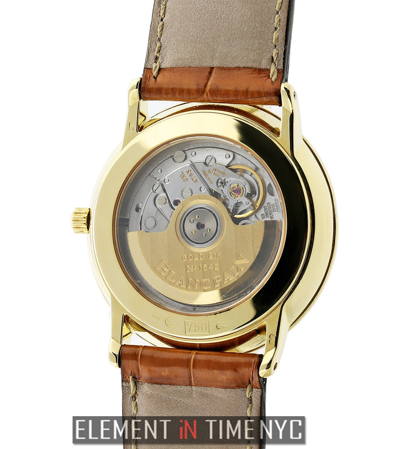 18k Yellow Gold 34mm White Dial Automatic