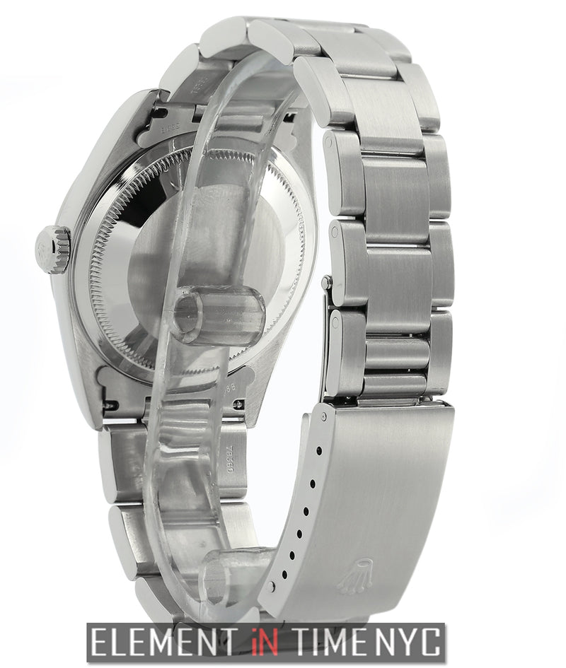 36mm Stainless Steel Silver Index F Serial Circa 2004