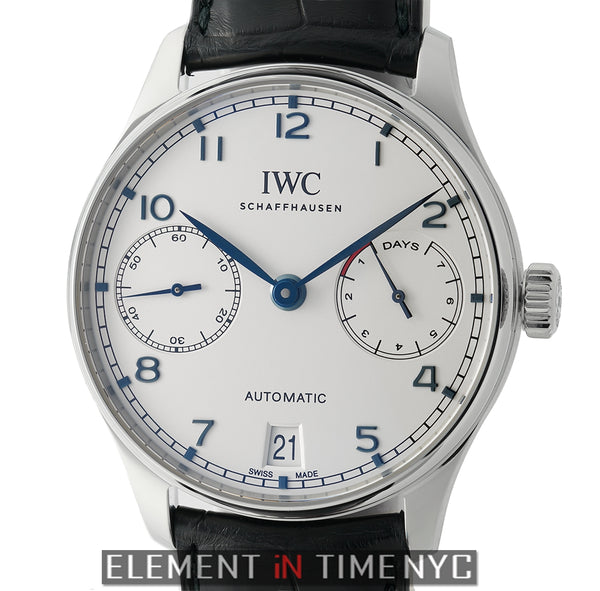 Portuguese 7 Day Automatic Stainless Steel Silver Dial
