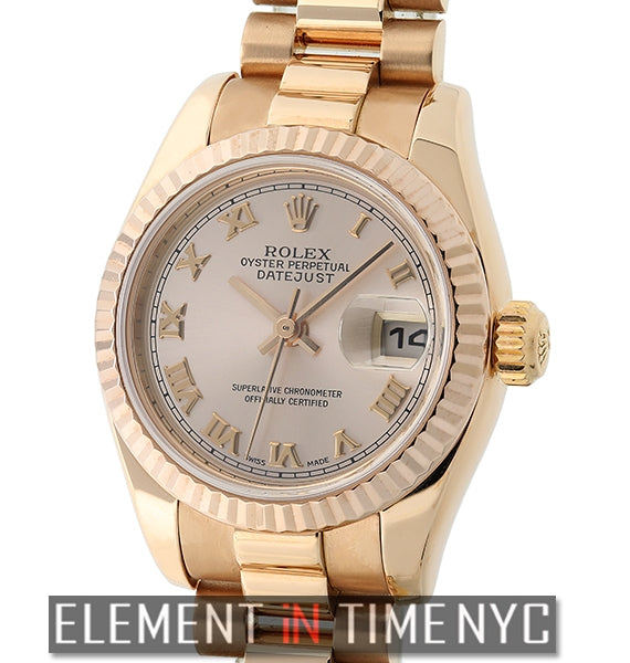 Lady President 18k Rose Gold Pink Roman Dial Y Serial 2002