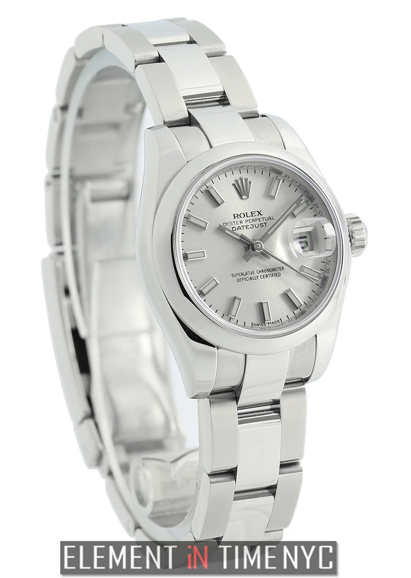 Lady Stainless Steel 26mm Silver Index Dial 2007